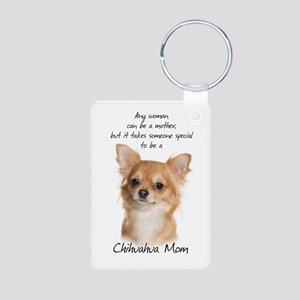 Chihuahua Mom Aluminum Photo Keychain