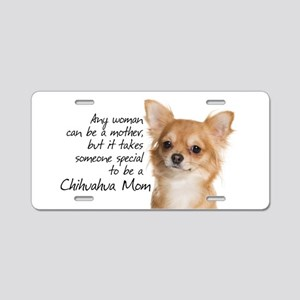 Chihuahua Mom Aluminum License Plate