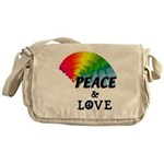 Rainbow Peace Love Messenger Bag