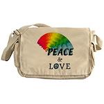 Rainbow Peace Love Messenger Bag