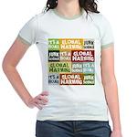 Global Warming Hoax Jr. Ringer T-Shirt