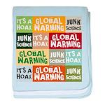 Global Warming Hoax baby blanket