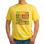Global Warming Hoax Yellow T-Shirt