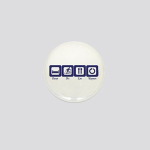 Sleep- Ski- Eat- Repeat Mini Button