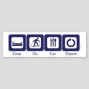 Sleep- Ski- Eat- Repeat Bumper Sticker