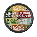 Global Warming Hoax Large Wall Clock