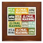 Global Warming Hoax Framed Tile