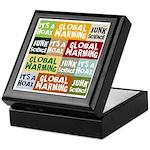 Global Warming Hoax Keepsake Box
