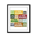 Global Warming Hoax Framed Panel Print