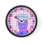 Smitten By Kittens Wall Clock