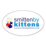 Smitten By Kittens Oval Sticker
