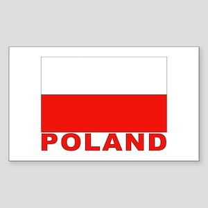 Poland Flag Rectangle Sticker