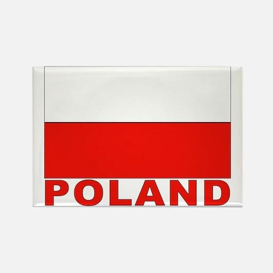 Poland Flag Rectangle Magnet