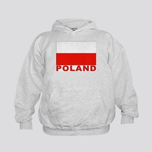 Poland Flag Kids Hoodie