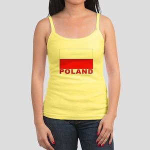 Poland Flag Jr. Spaghetti Tank