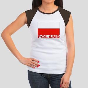 Poland Flag Women's Cap Sleeve T-Shirt