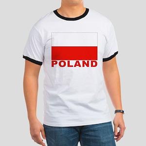 Poland Flag Ringer T