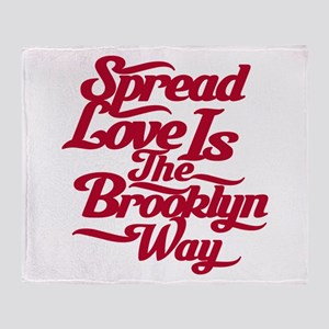 Brooklyn Love Red Throw Blanket