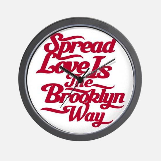 Brooklyn Love Red Wall Clock