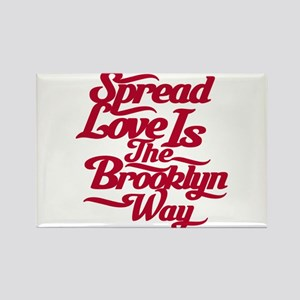 Brooklyn Love Red Rectangle Magnet