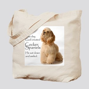 God Created Cockers Tote Bag