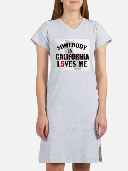 Somebody In California Women's Nightshirt