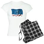 Wavy Burbank Flag Women's Light Pajamas