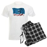 Wavy Burbank Flag Men's Light Pajamas