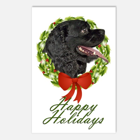 Cocker Xmas Postcards (Package of 8)