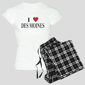 I Love Des Moines Women's Light Pajamas