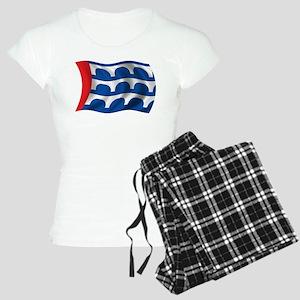 Wavy Des Moines Flag Women's Light Pajamas