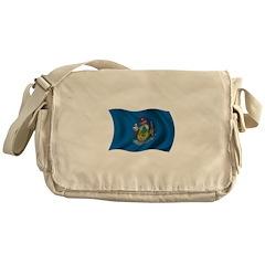 Wavy Maine Flag Messenger Bag