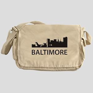 Baltimore Skyline Messenger Bag
