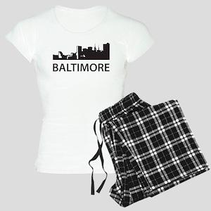 Baltimore Skyline Women's Light Pajamas