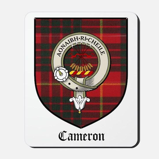 Cameron Clan Crest Tartan Mousepad