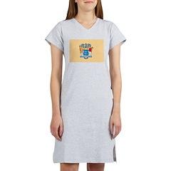 New Jersey Flag Women's Nightshirt