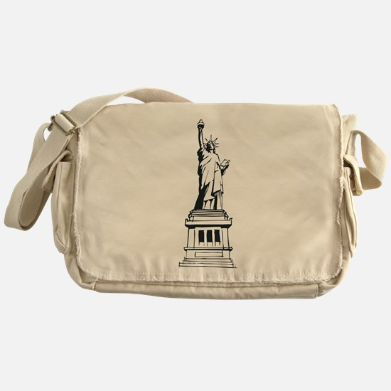 Hand Drawn Statue Of Liberty Messenger Bag