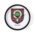 Christie Clan Badge Tartan Wall Clock