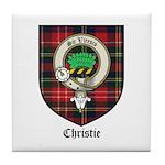 Christie Clan Badge Tartan Tile Coaster