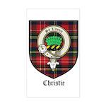 Christie Clan Badge Tartan Rectangle Sticker