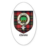Christie Clan Badge Tartan Oval Sticker