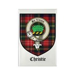 Christie Clan Badge Tartan Rectangle Magnet (10 pa