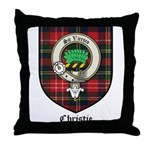 Christie Clan Badge Tartan Throw Pillow