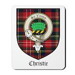 Christie Clan Badge Tartan Mousepad