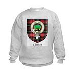 Christie Clan Badge Tartan Kids Sweatshirt