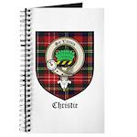 Christie Clan Badge Tartan Journal