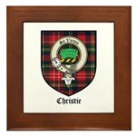 Christie Clan Badge Tartan Framed Tile