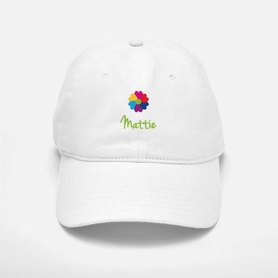 Mattie Valentine Flower Baseball Baseball Cap