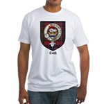 Cook Clan Badge Tartan Fitted T-Shirt