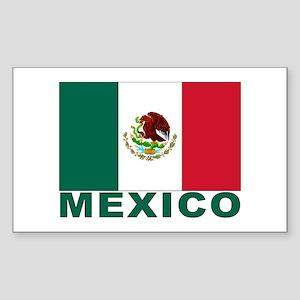 Mexico Flag Rectangle Sticker